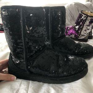 Black sequin ugg boot 7